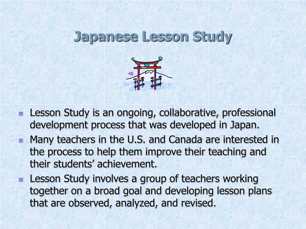 Japanese Lesson Study