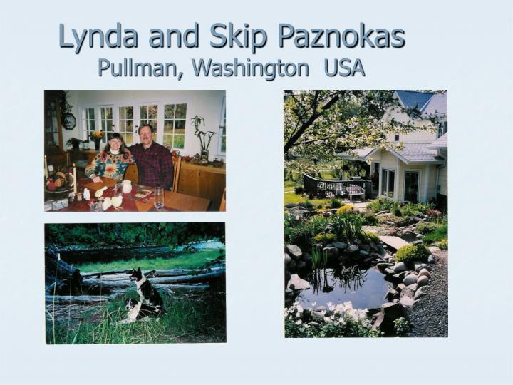 Lynda and skip paznokas pullman washington usa