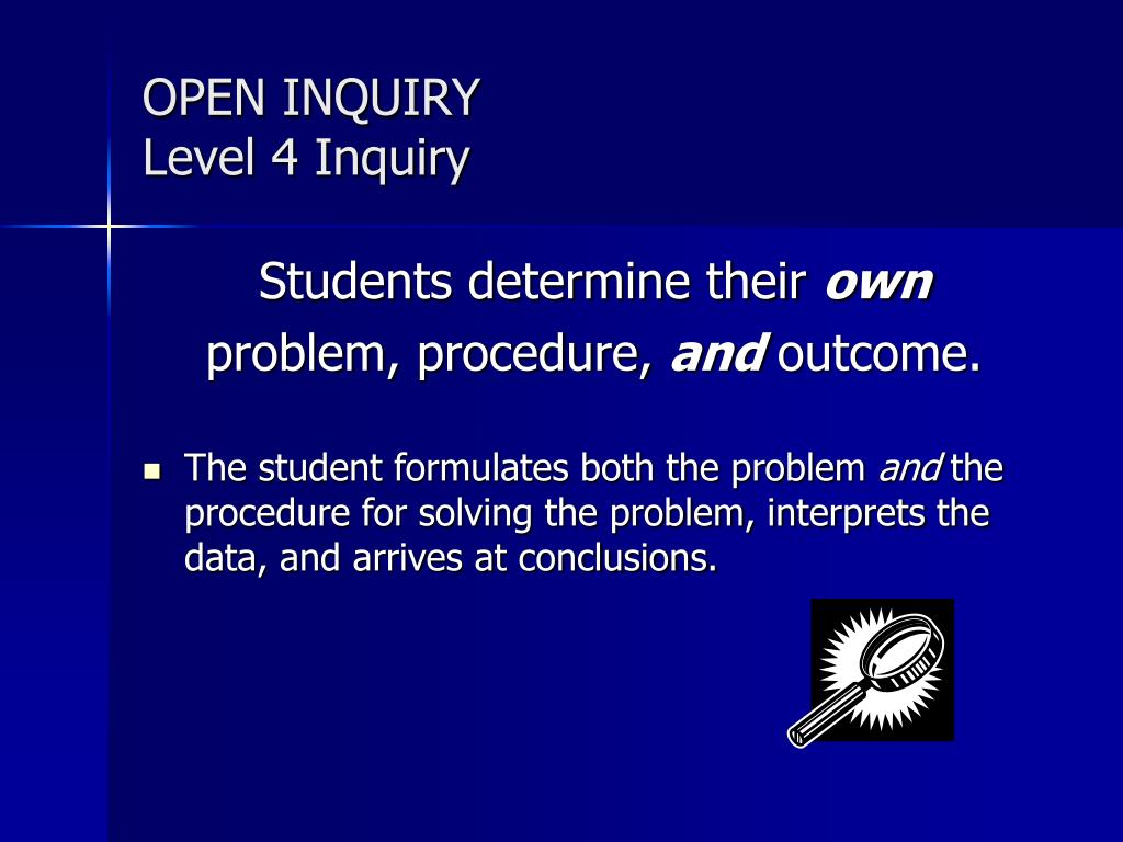 OPEN INQUIRY