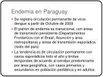 endemia en paraguay
