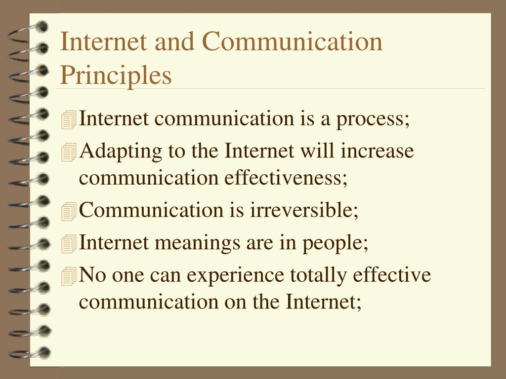 Internet and Communication Principles