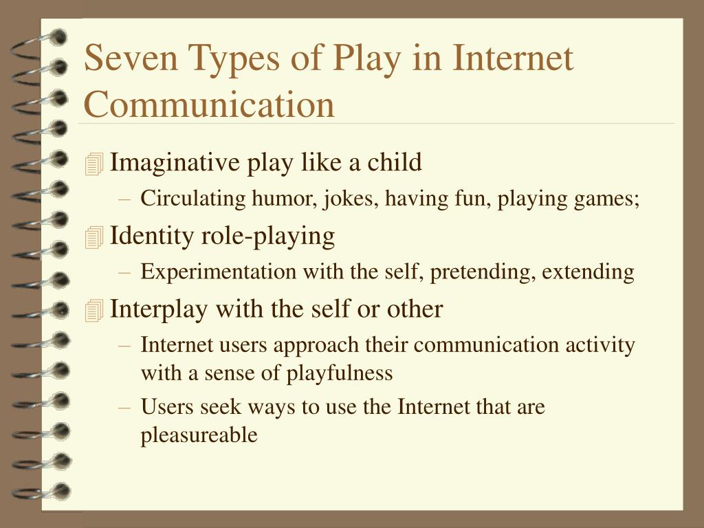 Seven Types of Play in Internet Communication