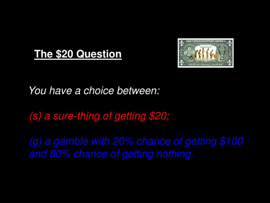 The $20 Question