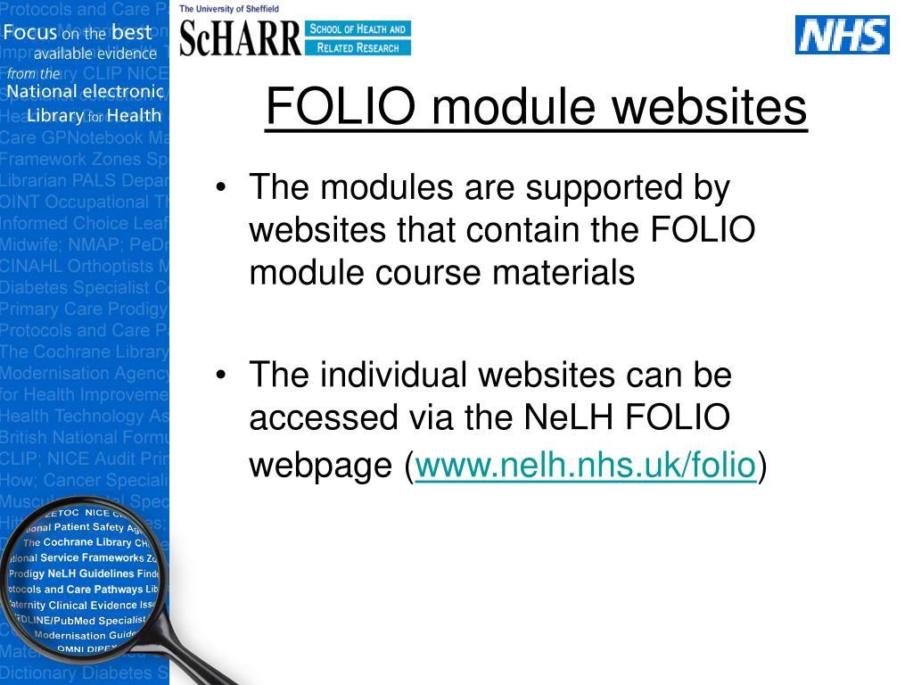 FOLIO module websites