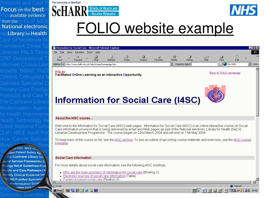 FOLIO website example