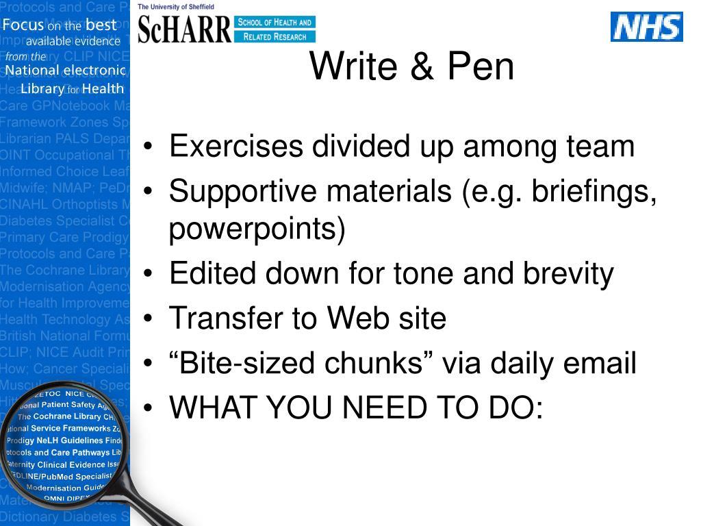Write & Pen