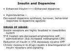 insulin and dopamine