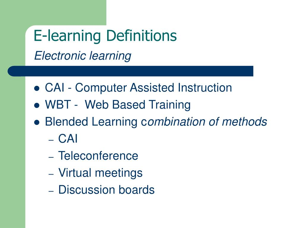 E-learning Definitions