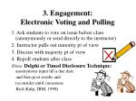 3 engagement electronic voting and polling