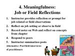 4 meaningfulness job or field reflections