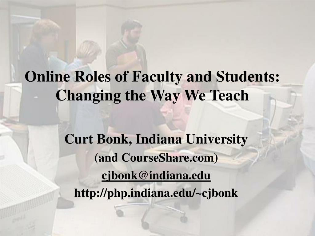 online roles of faculty and students changing the way we teach l.