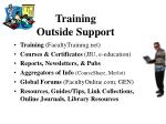 training outside support