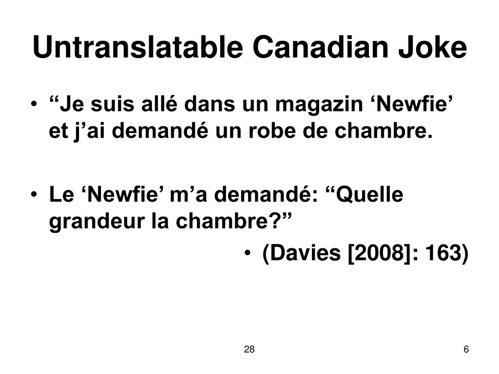 Untranslatable Canadian Joke