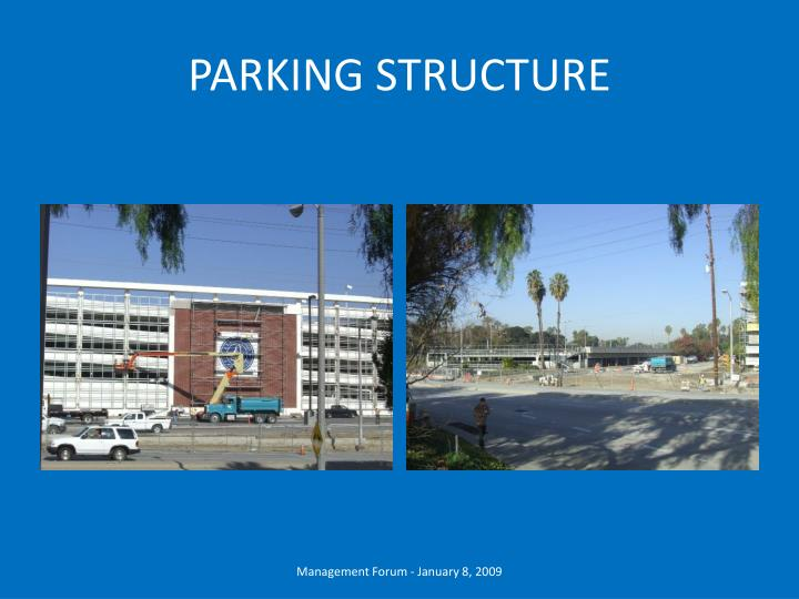 parking structure n.