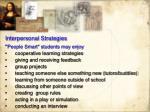 interpersonal strategies