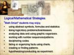 logical mathematical strategies