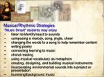 musical rhythmic strategies