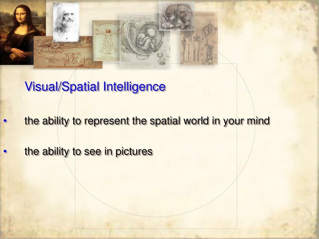 Visual/Spatial Intelligence