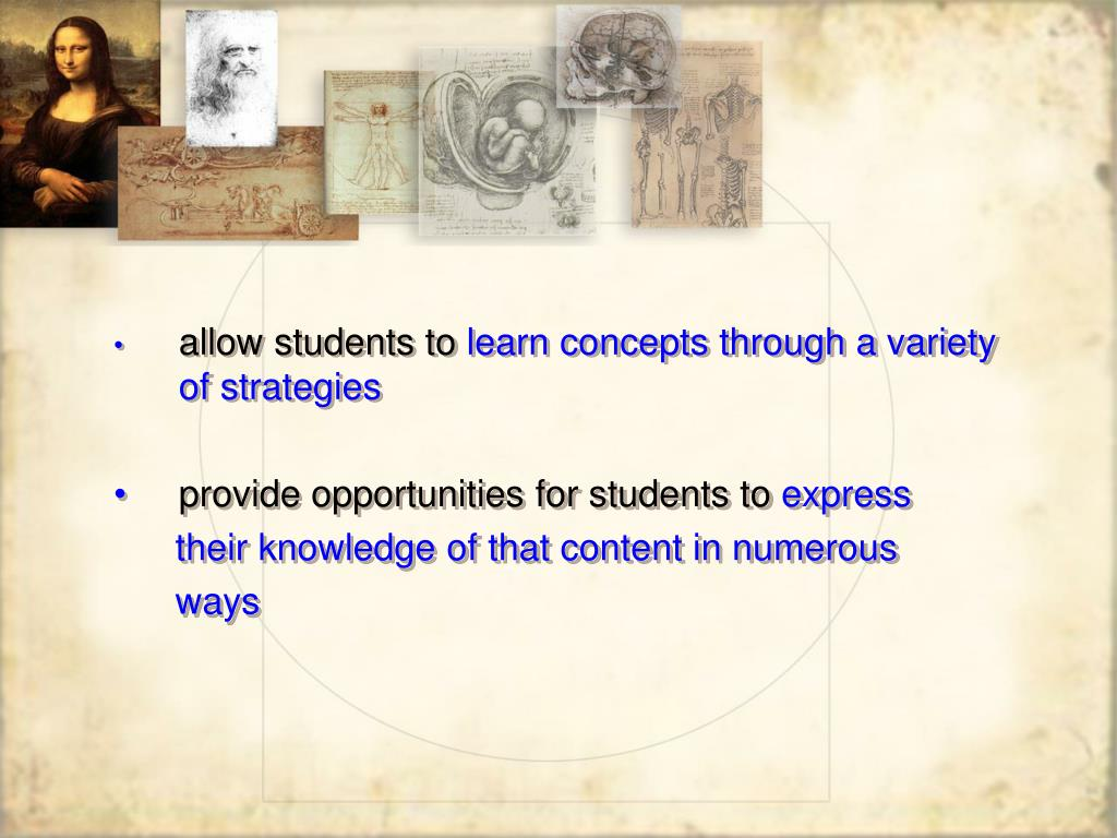 allow students to