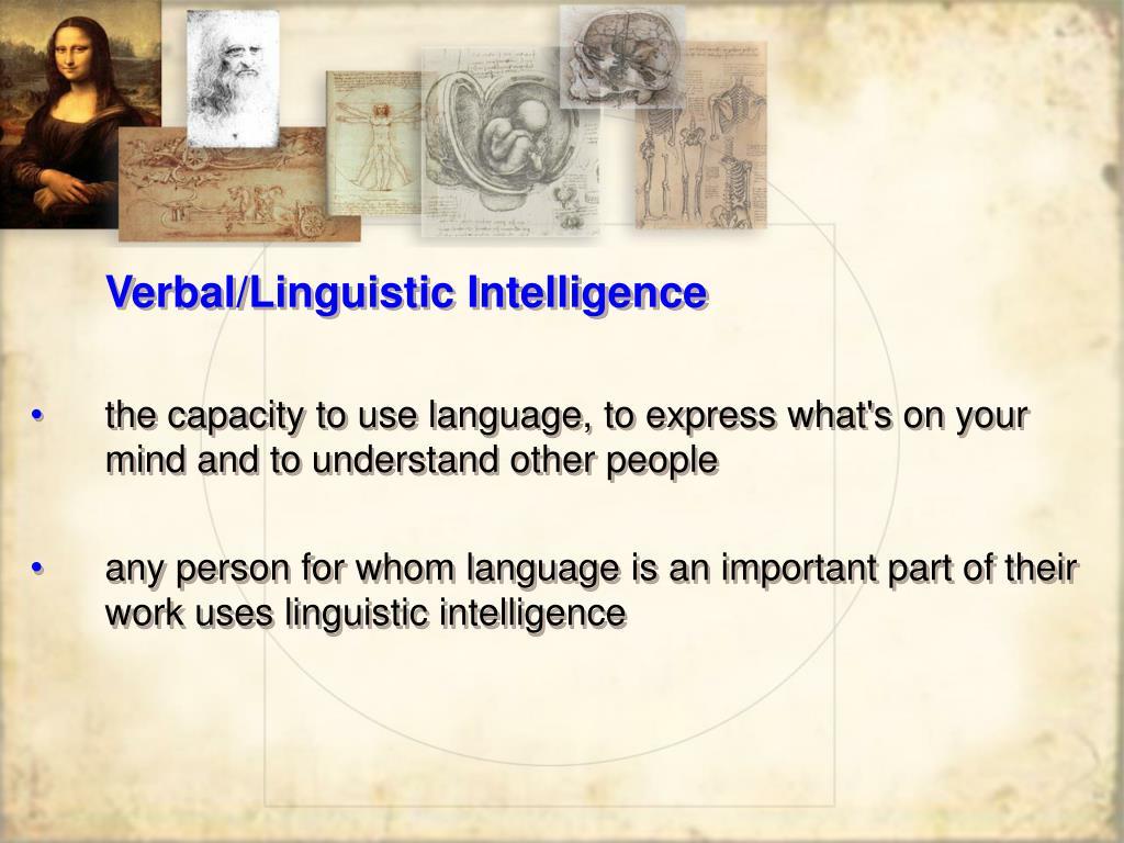 Verbal/Linguistic