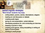 verbal linguistic strategies
