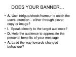 does your banner