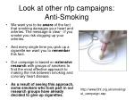 look at other nfp campaigns anti smoking