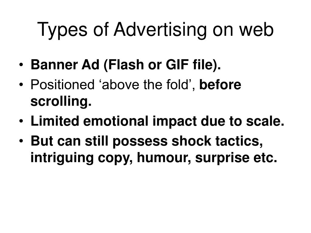 Types of Advertising on web