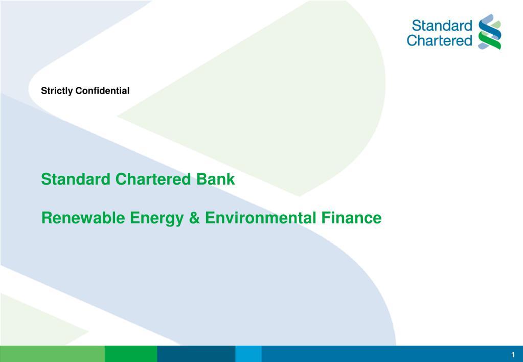 standard chartered bank renewable energy environmental finance l.