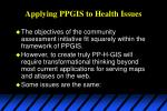 applying ppgis to health issues