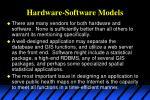 hardware software models