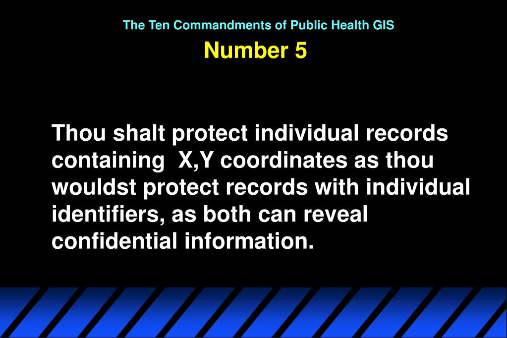 The Ten Commandments of Public Health GIS