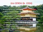 jiro censu b 1934
