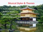 musical styles themes