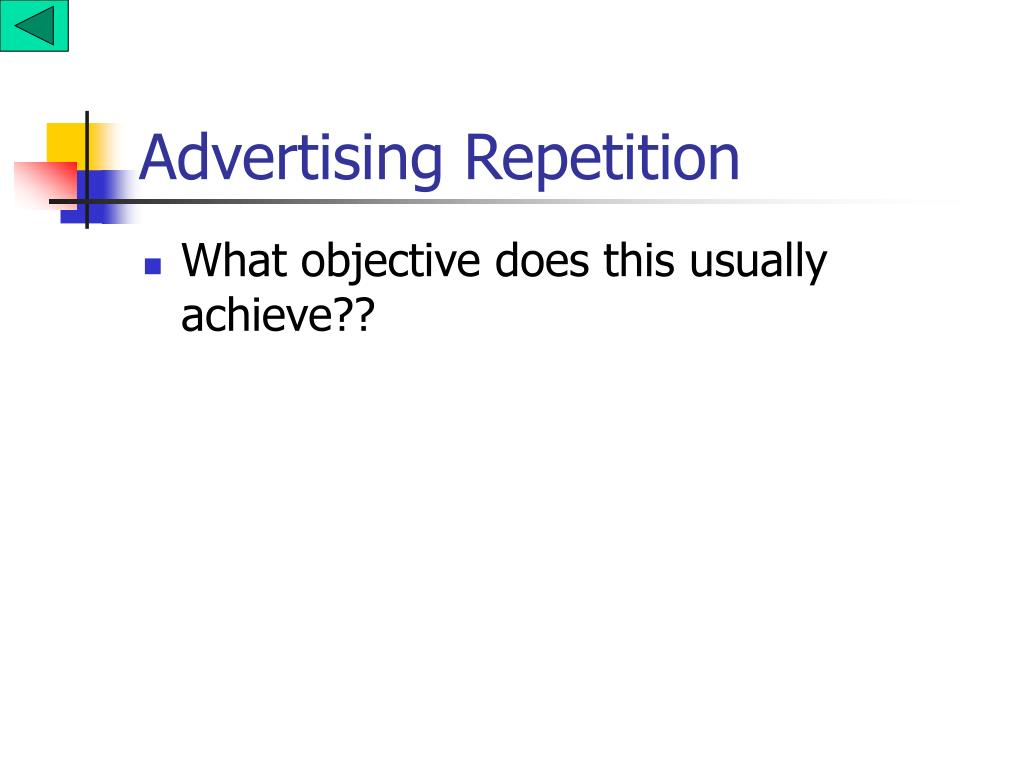 Advertising Repetition