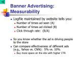 banner advertising measurability