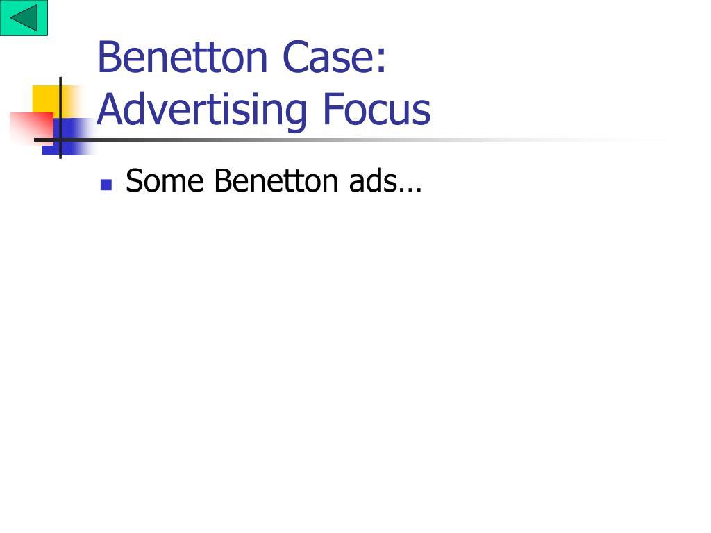 Benetton Case: