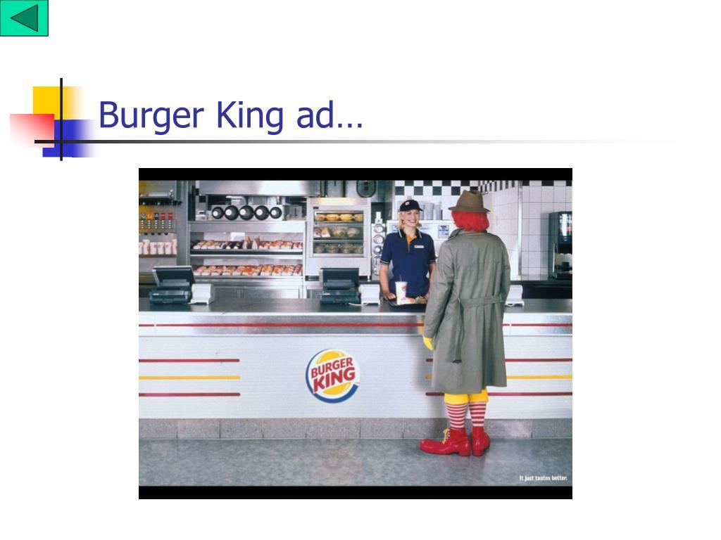 Burger King ad…