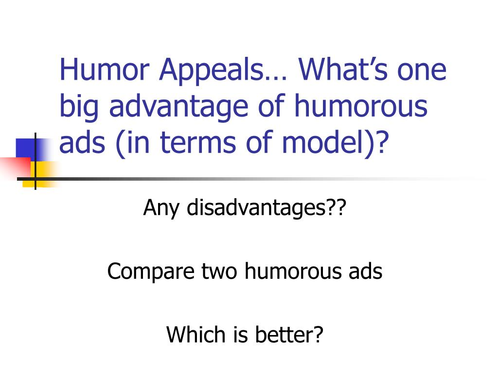 disadvantage of humour appeal