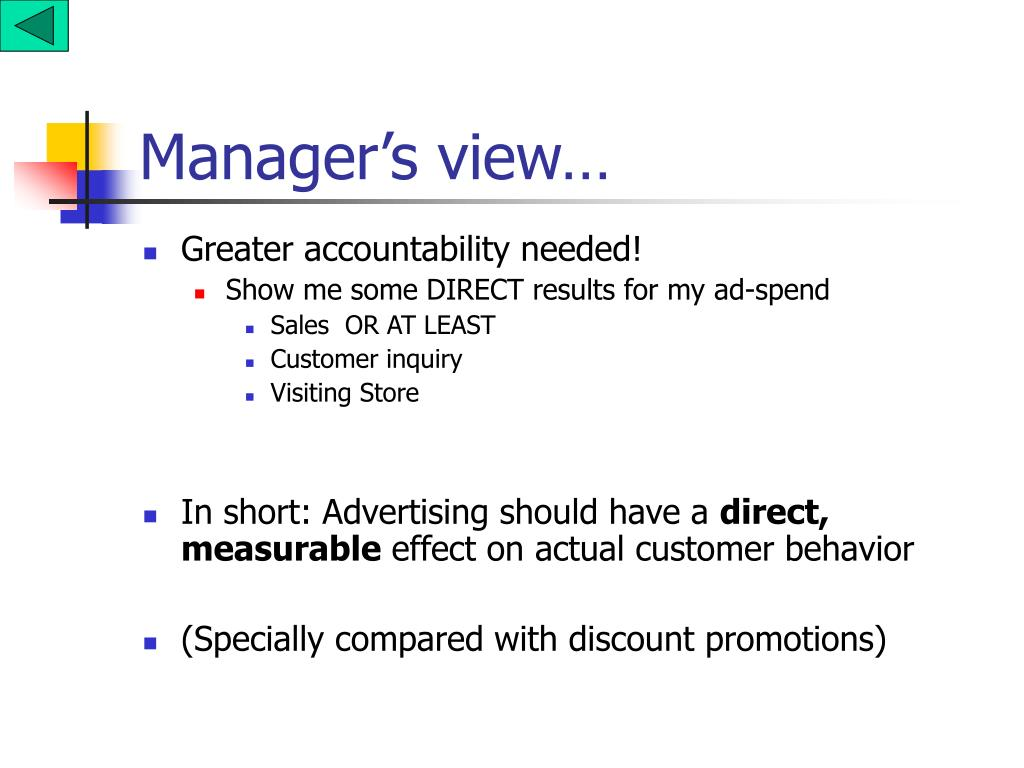 Manager's view…