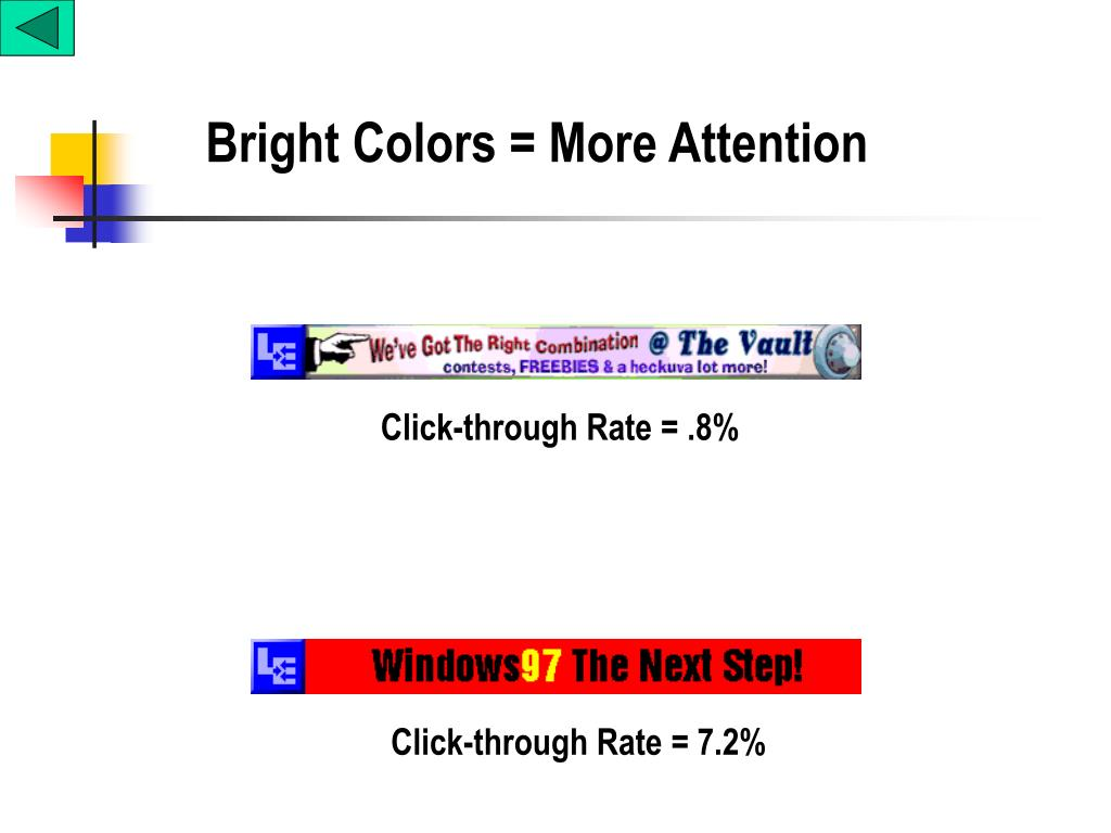 Bright Colors = More Attention