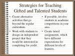 strategies for teaching gifted and talented students
