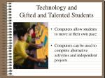 technology and gifted and talented students