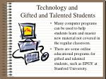 technology and gifted and talented students13