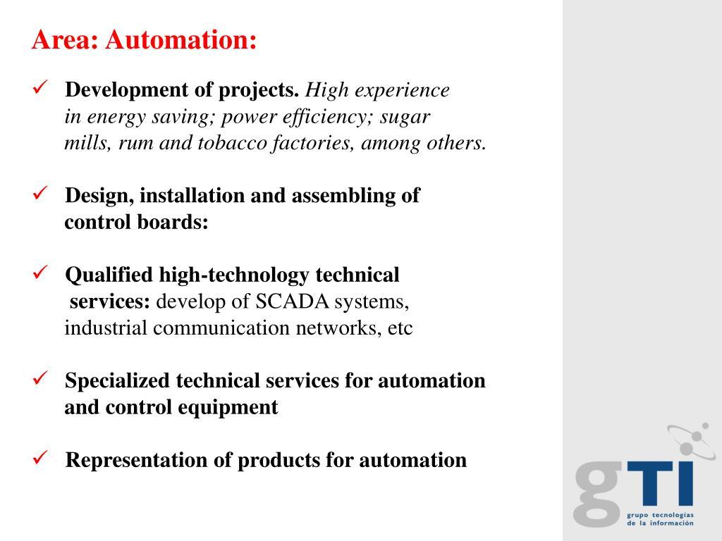 Area: Automation: