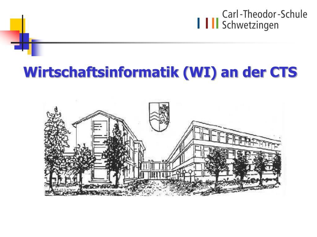 Wirtschaftsinformatik (WI) an der CTS