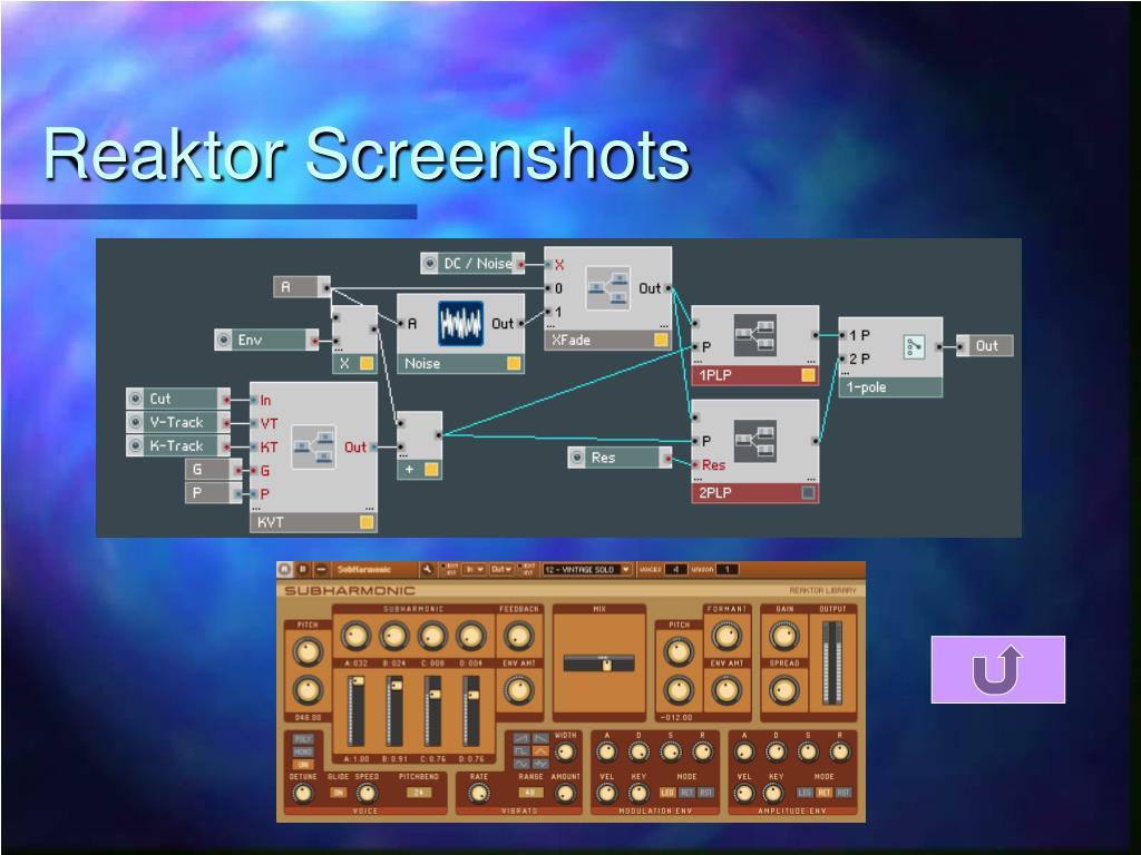 Reaktor Screenshots