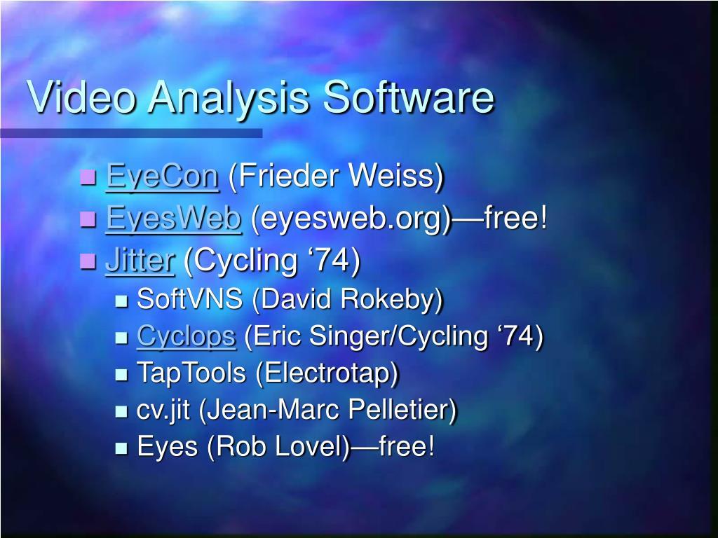 Video Analysis Software