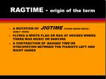 ragtime origin of the term