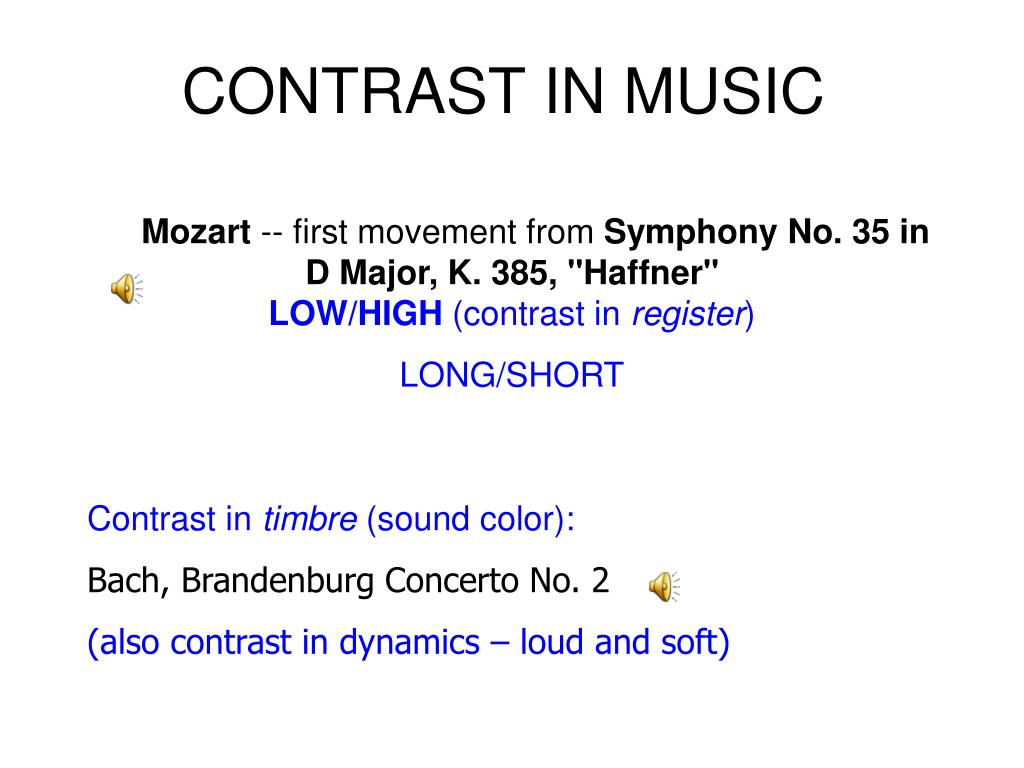 CONTRAST IN MUSIC